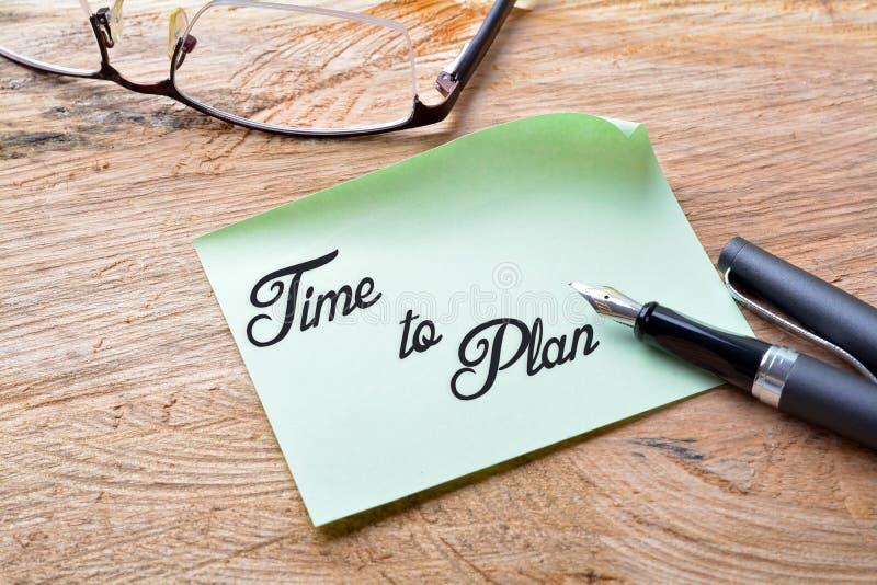 计划时间 库存图片