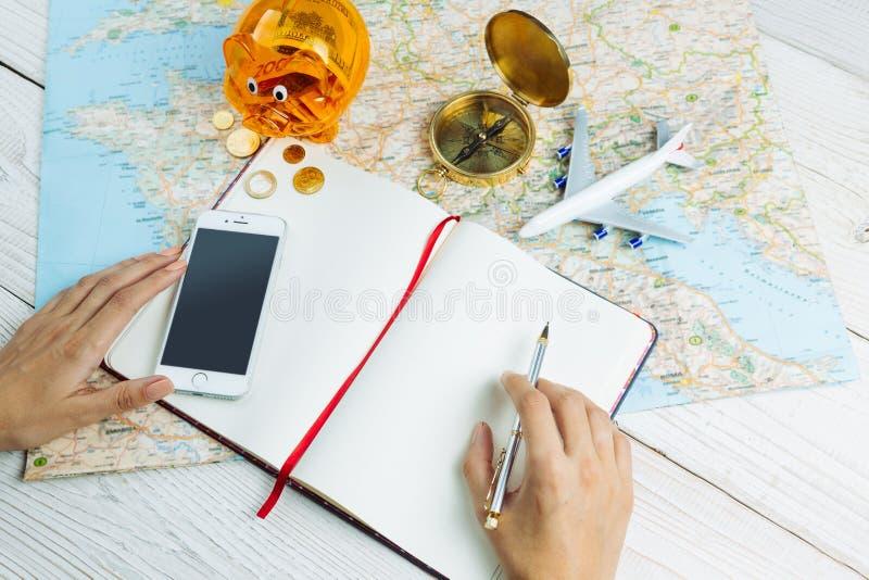 计划的欧洲游览 图库摄影