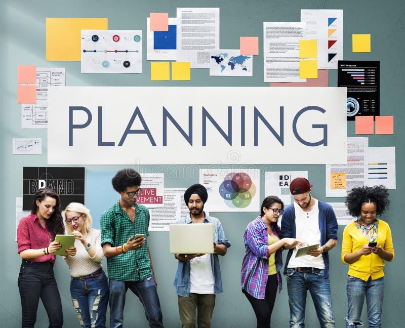 计划计划操作解答视觉战略概念 免版税图库摄影