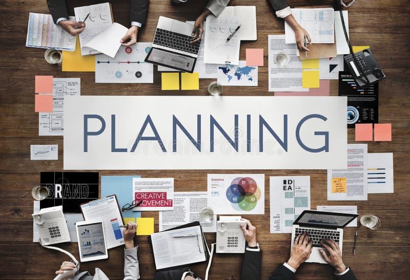 计划计划操作解答Viosion战略概念 库存照片