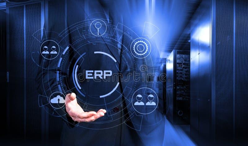 计划ERP系统管理和技术3d的企业资源回报 皇族释放例证