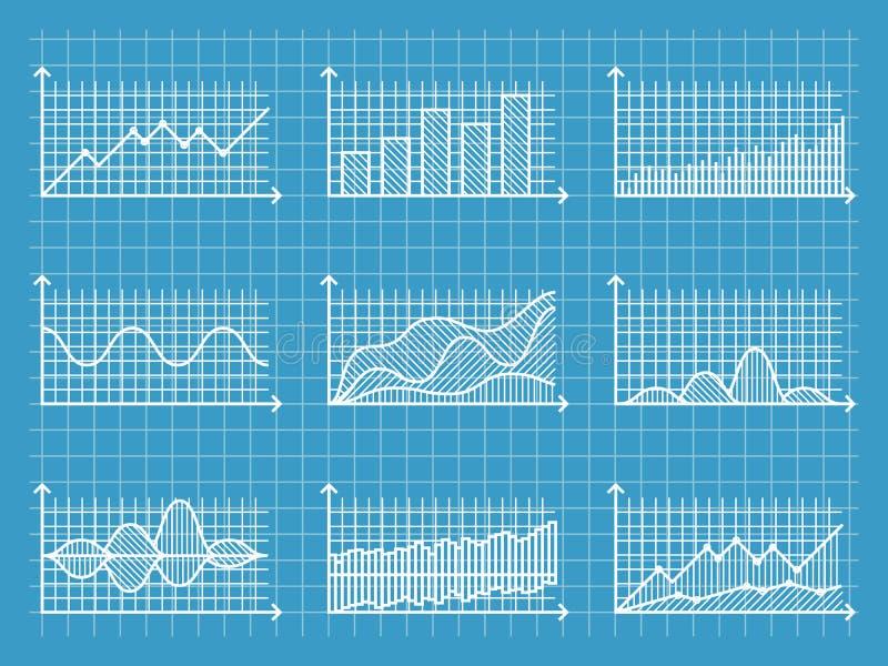 计划infographic线性图并且绘制介绍报告业务设计传染媒介例证的模板图表 向量例证