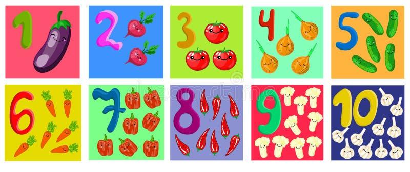 计数和写数字到10为孩子 库存例证