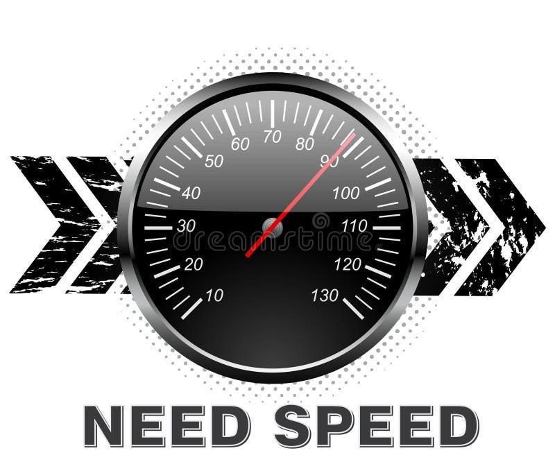 计数器速度 向量例证