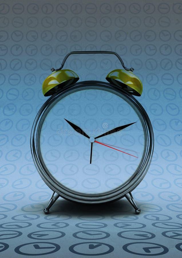 计数在现代的减速火箭的时钟时间 库存例证