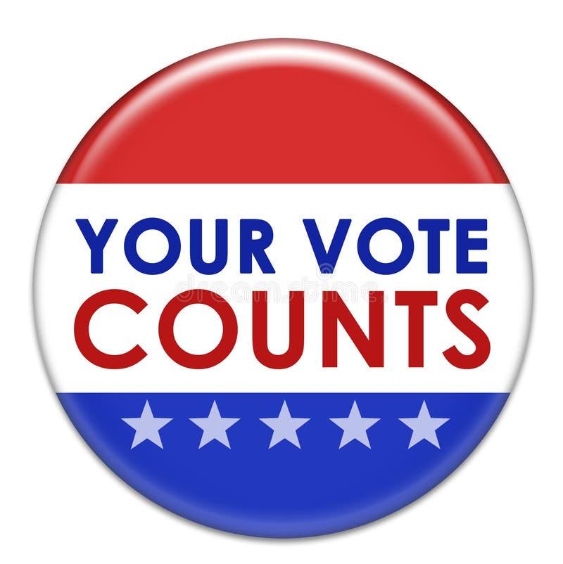 计数投票您 库存例证