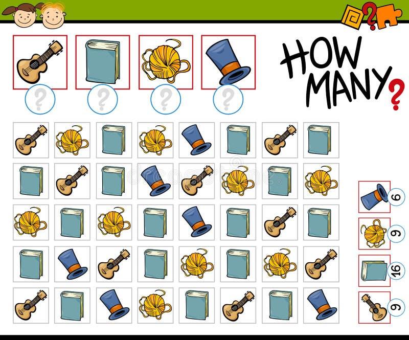 计数比赛动画片例证 向量例证