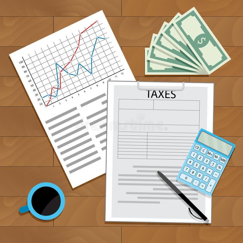 计数税年 库存例证