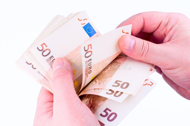 计数货币的现有量 免版税库存图片