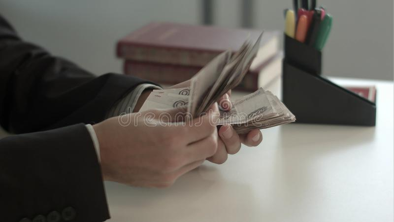 计数货币老妇人 库存图片
