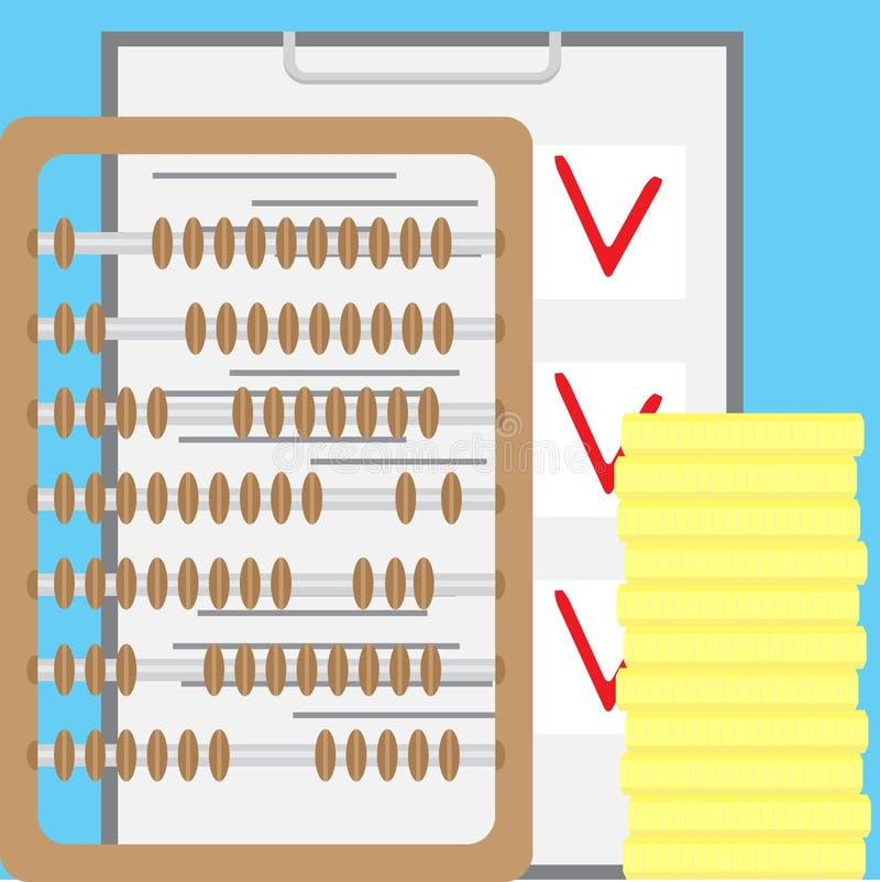 计数财务 会计和帐户 向量例证