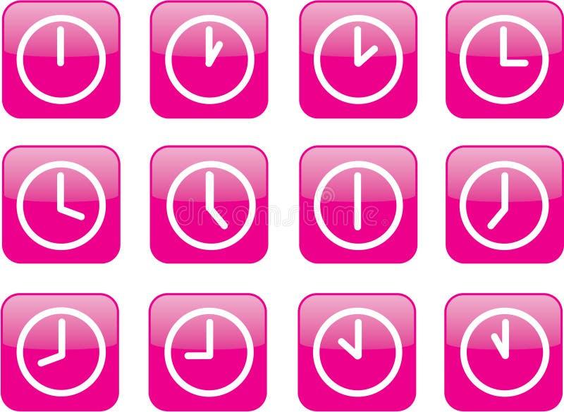 计时光滑的粉红色 皇族释放例证
