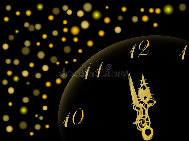 计时新年度 向量例证