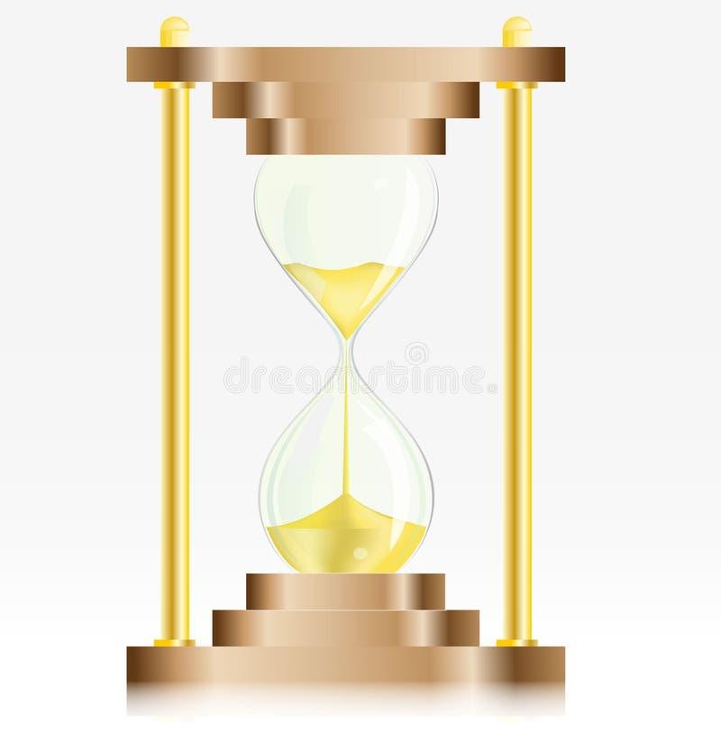 计时玻璃金沙子 向量例证
