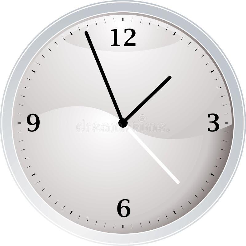 计时白色 库存例证