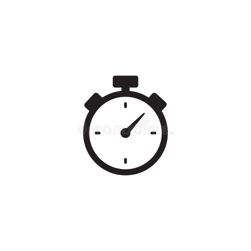 计时表定时器被隔绝的象 库存例证