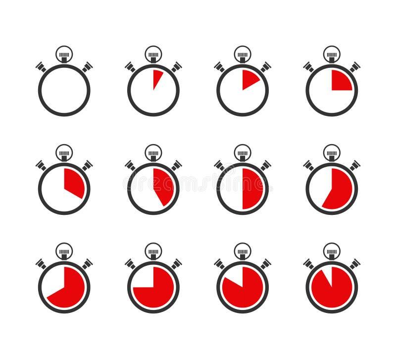 计时表或定时器象 皇族释放例证
