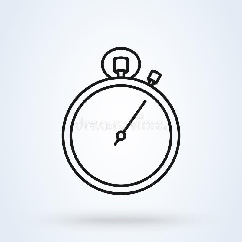 计时表,秒表线艺术 简单的传染媒介现代象设计例证 向量例证
