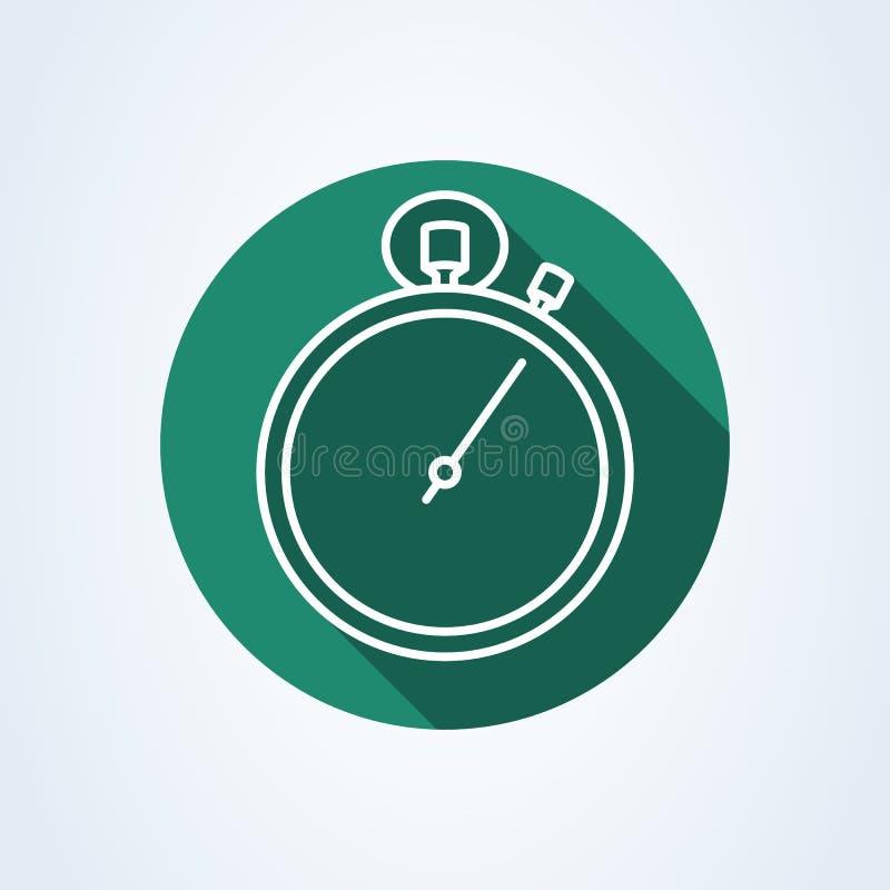 计时表,秒表线艺术 简单的传染媒介现代象设计例证 皇族释放例证