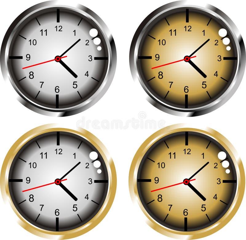 计时金银 向量例证