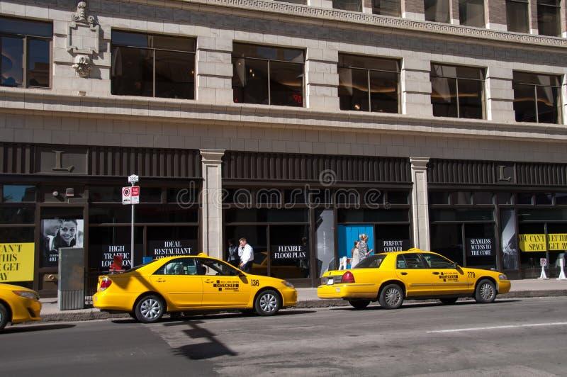计程车车站,卡尔加里 编辑类照片