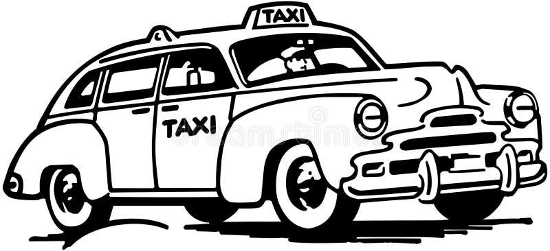 计程车 向量例证
