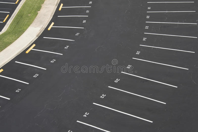 计算停车的空的批次 库存图片