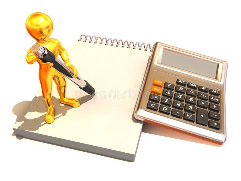 计算器人笔记本 向量例证