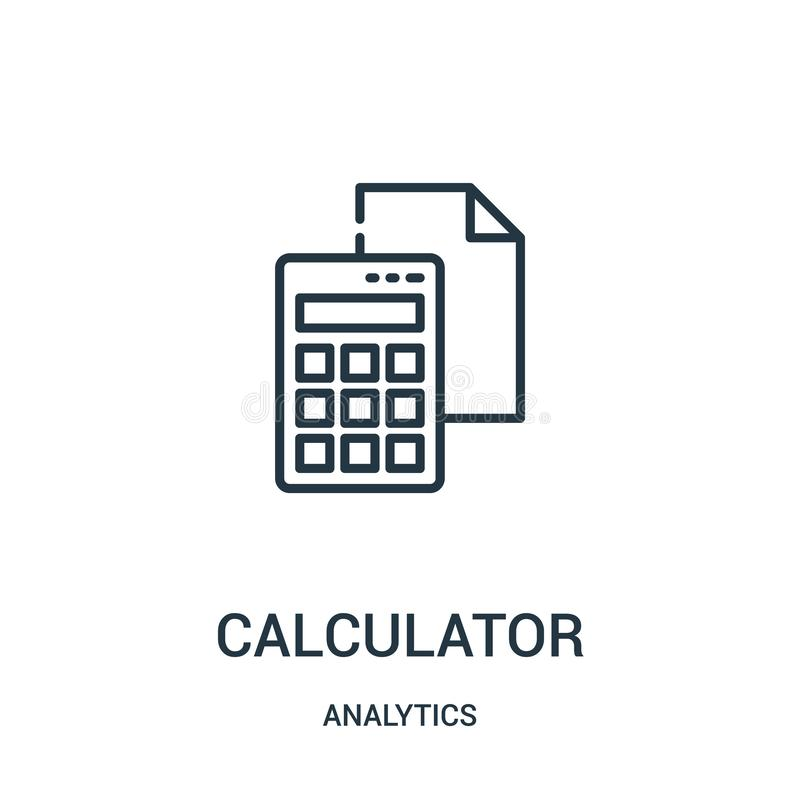 计算器从逻辑分析方法汇集的象传染媒介 稀薄的线计算器概述象传染媒介例证 库存例证