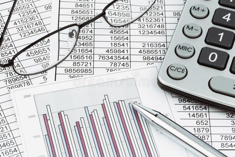 计算器和statistk 免版税库存图片