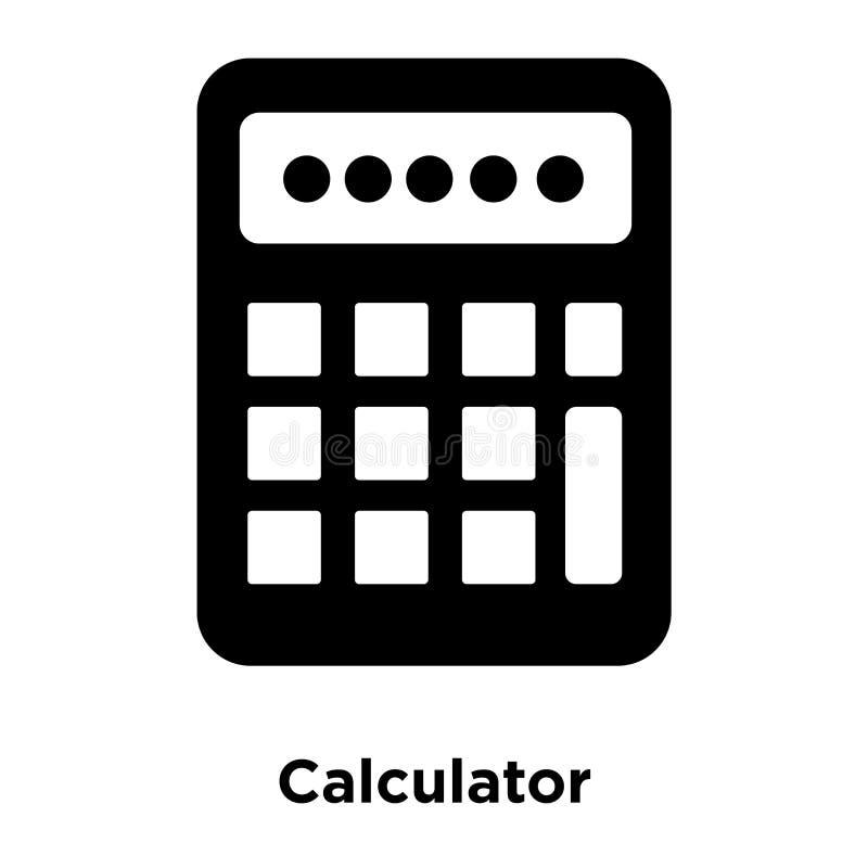 计算器在白色背景隔绝的象传染媒介,商标concep 向量例证