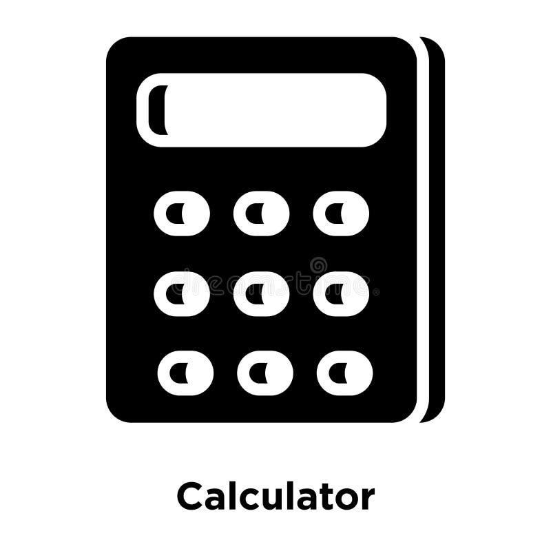 计算器在白色背景隔绝的象传染媒介,商标concep 皇族释放例证