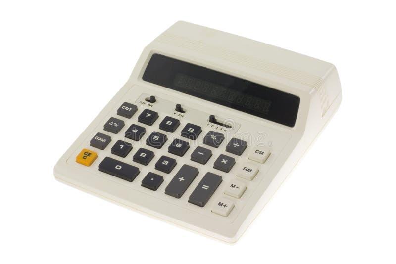 计算器塑造了老 免版税库存照片