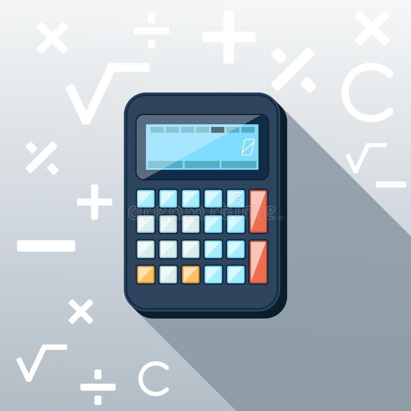 计算器平的概念象传染媒介例证 向量例证