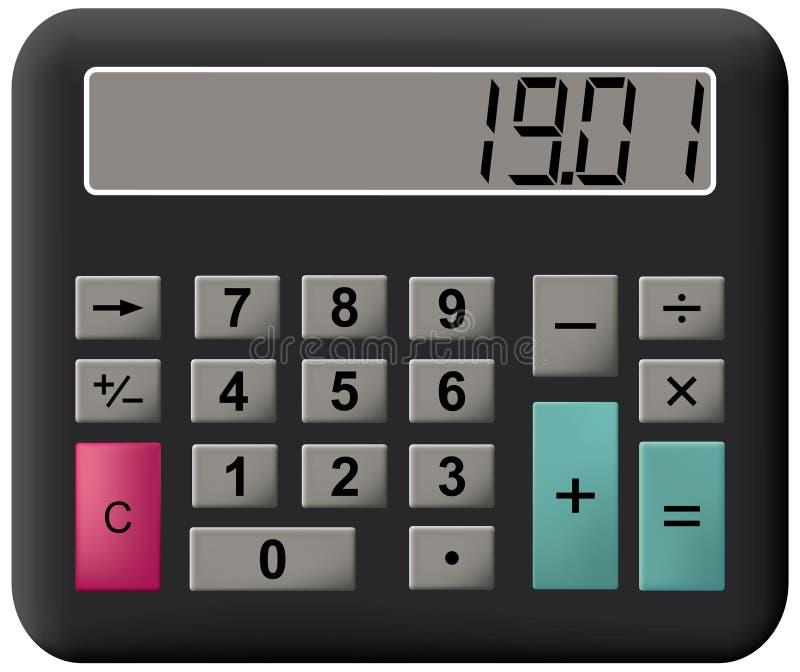 计算器数学 库存例证