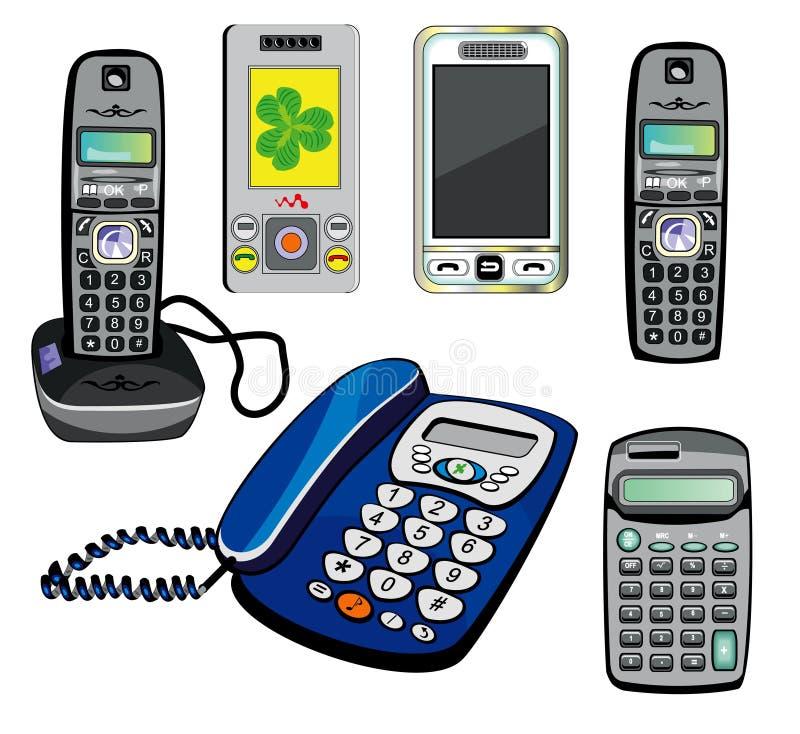 计算器查出的电话 向量例证