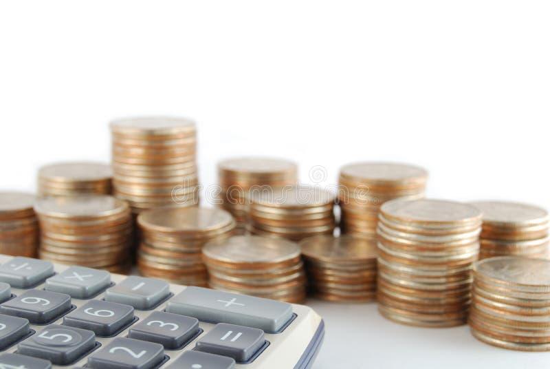 计算器硬币 免版税库存照片