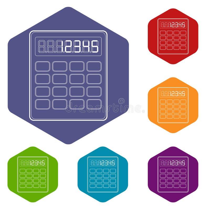 计算器象,概述样式 库存例证