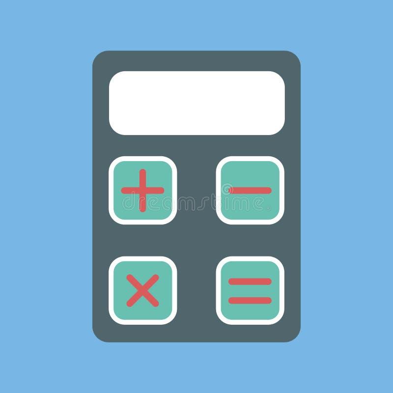 计算器象 数学演算的标志 皇族释放例证