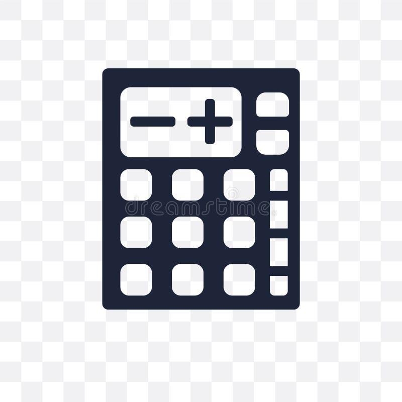 计算器透明象 计算器标志设计从选举 向量例证