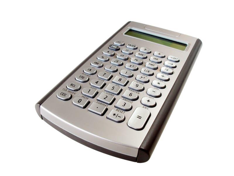 计算器银 免版税图库摄影