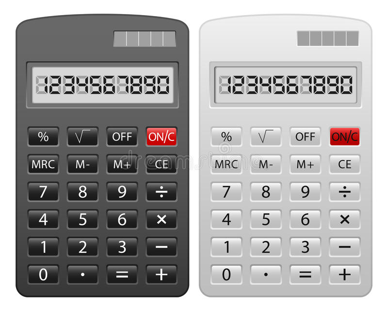 计算器集 向量例证