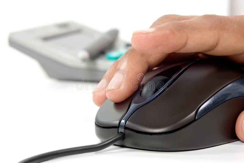 计算器鼠标笔 库存图片