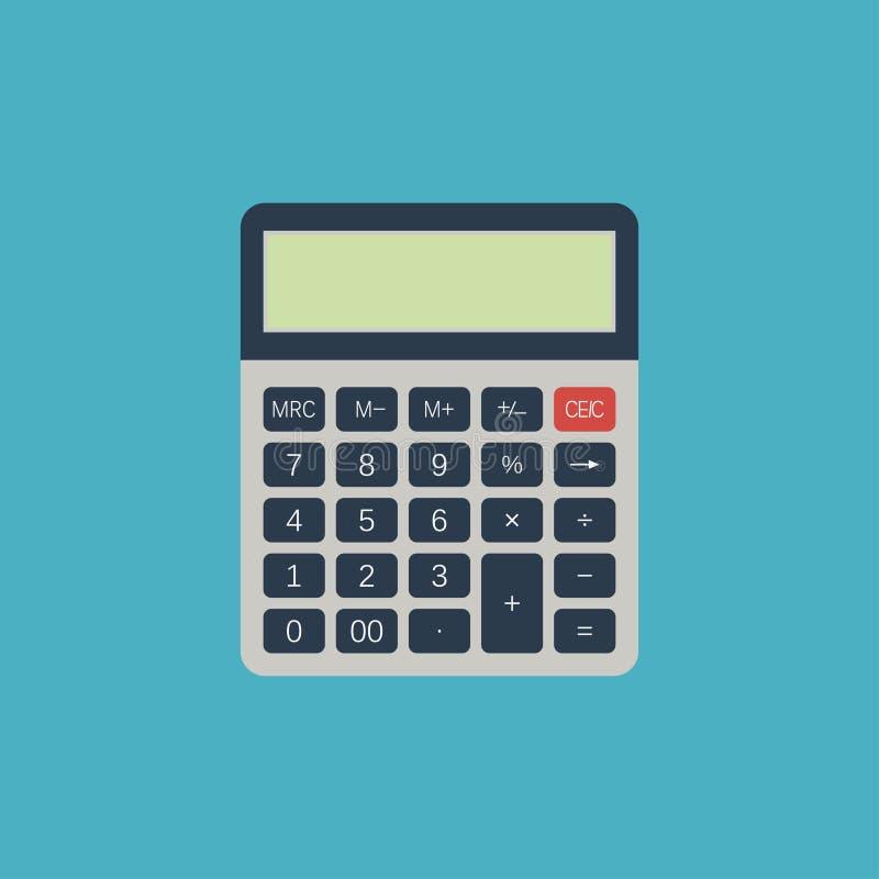 计算器 电子设备为计算数字 也corel凹道例证向量 库存例证