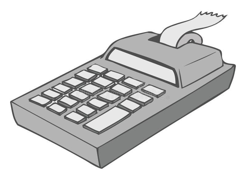 计算器 皇族释放例证