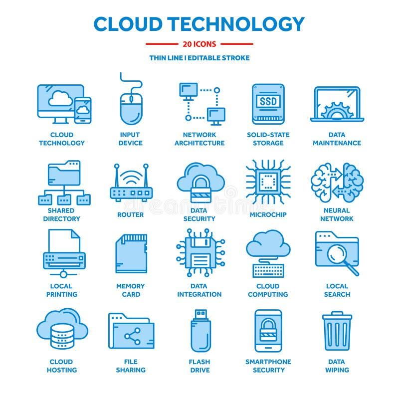 2010计算微软smau的云彩 互联网技术 联机服务 数据,信息保障 连接数 稀薄的线蓝色网象 皇族释放例证