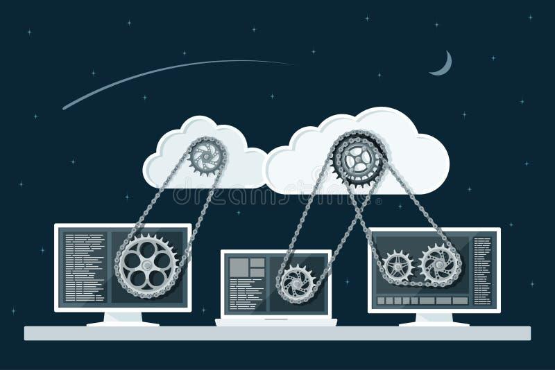 2010计算微软smau的云彩 向量例证