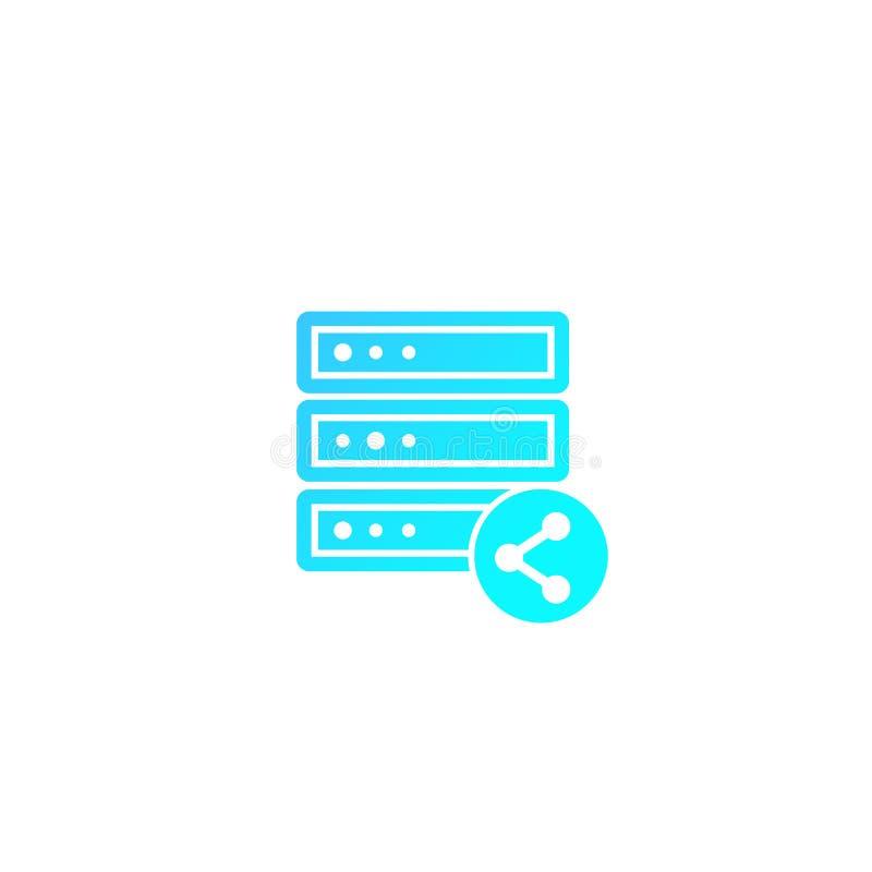 计算机主机,服务器,共有主持传染媒介 向量例证