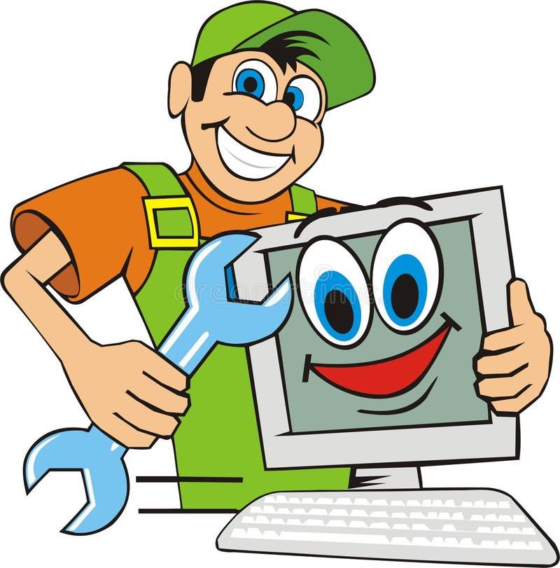 计算机主要维修服务 库存例证