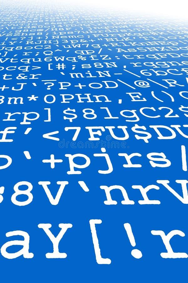 计算机乱语打印输出 向量例证